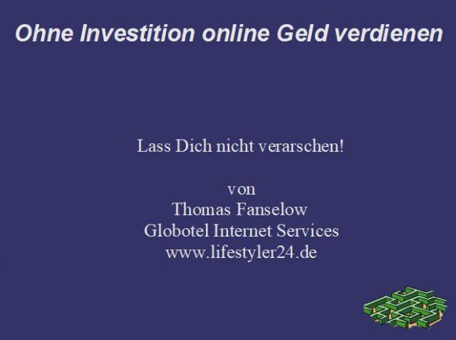 Online Geld verdienen mit Lifestyler24