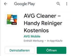 Handyreiniger AVG Cleaner