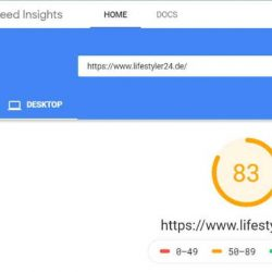 Desktop Speed vor WordPress Blog umziehen von Lifestyler24