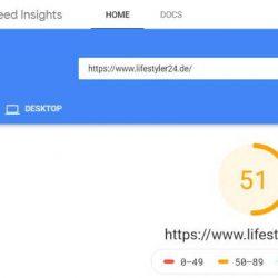 Mobil Speed vor WordPress Blog umziehen von Lifestyler24